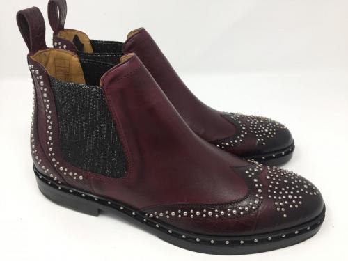 Chelsea Boots burgundy, Gr. 37 - 42, 185.- jetzt 129.-