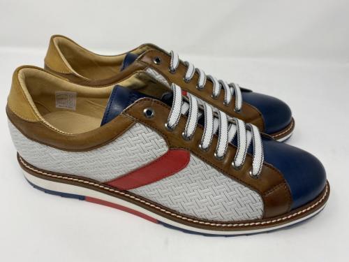 Exton Sneaker weiß natur dunkelblau, geflochten Gr. 41 -  46, 129.90