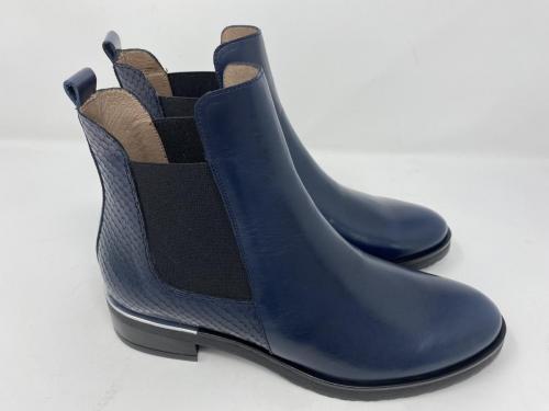 Chelsea Boots dunkelblau Snakeprint/ Glattleder Gr. 37, 40, 41, 42, 139.90
