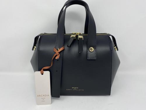 Lederhandtasche mit langem Umhängeriemen schwarz 199.- jetzt 99.50