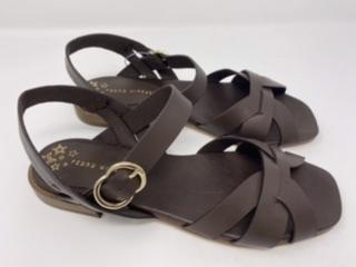 Sandalen dunkelbraun Gr. 37, 38, 40 und 42, 115.- jetzt 57.50
