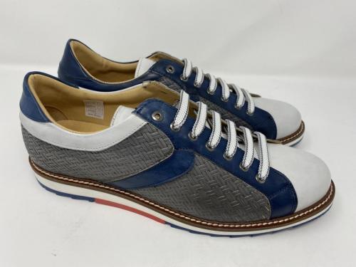 Exton Sneaker grau weiß dunkelblau, geflochten Gr. 42 - 45, 129.90