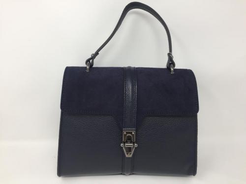 Lederhandtasche dunkelblau 139.90