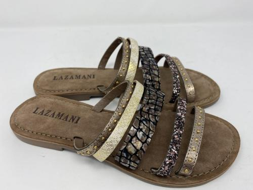 Pantolette braun-gold Gr. 37 - 42, 59.90