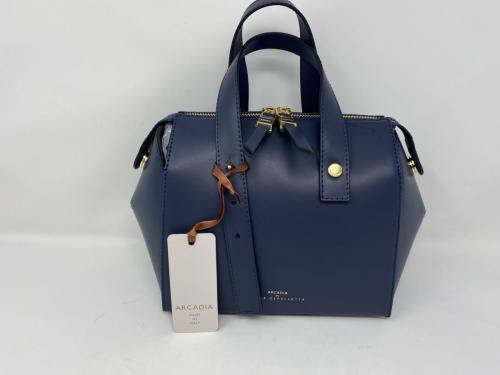 Lederhandtasche mit langem Umhängeriemen dunkelblau 199.- jetzt 99.50