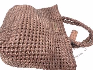 Größere Lederhandtasche in rosenholz 179.-