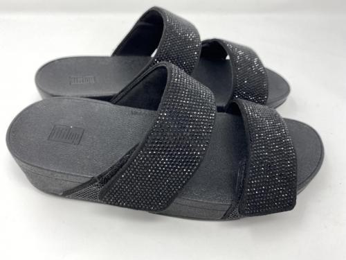 Pantolette mit Doppel Klettverschluss schwarz Gr 36 - 43,Glitzer 99.90