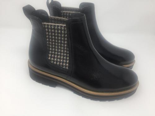 Chelsea Boots Lackleder schwarz, 155.-