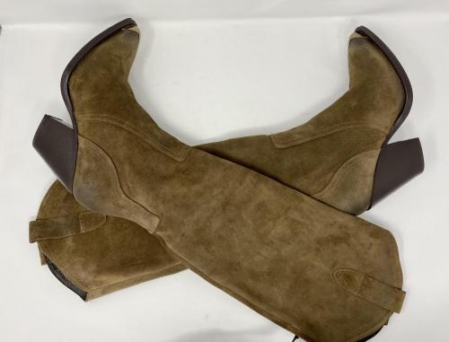 Western Stiefel Veloursleder taupe Gr. 36, 37, 38 und 41, 189.-