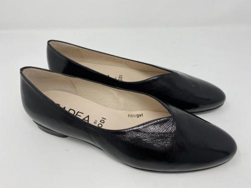 Ballerina schwarz Knautschlack Gr. 37 und  42, 89.90 jetzt 44.95