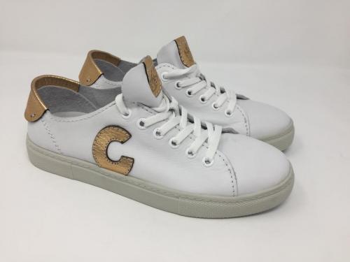Sneaker weiß Gold Gr. 36 und 37, 119.90 jetzt 95.-