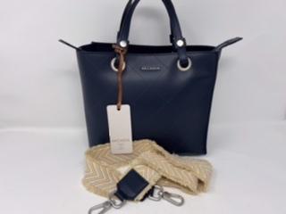 Lederhandtasche in mittlerer Größe dunkelblau 159.-