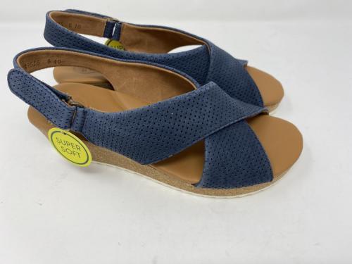 Keilsandalette jeansblau Gr. 37 - 41, 125.-