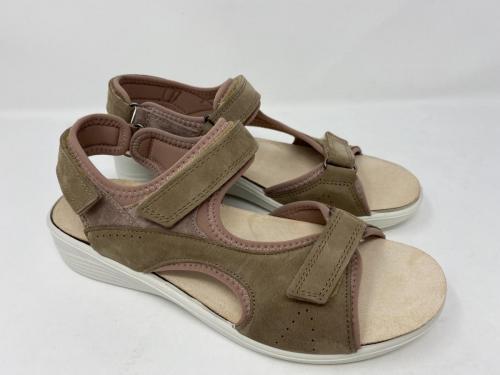 Bequeme Sandalette beige Gr. 37, 38, 39 und 42, 79.90