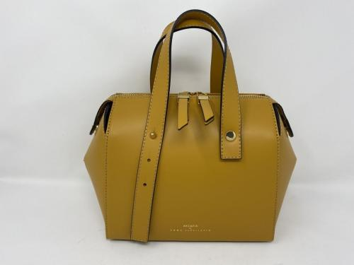Lederhandtasche mit langem Umhängeriemen gelb 199.-jetzt 99.50