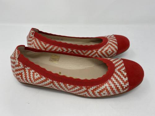 Ballerina rot beige geflochten, Gr. 37 -42, 99.90