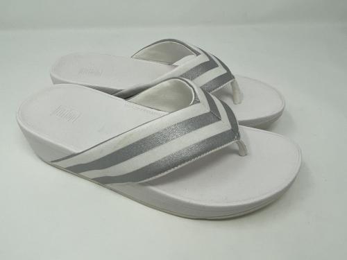 Flipflop weiß silber Gr 36 - 42, 65.-