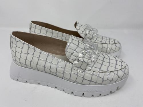 Loafer weiß Kroko Lackleder Gr. 36 - 42, 120.-Größe 39 und 41 ausverkauft