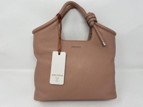 Kleinere Lederhandtasche rose 199.-