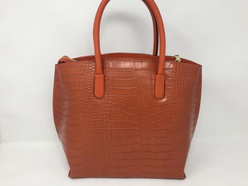 Lederhandtasche orange 129.90