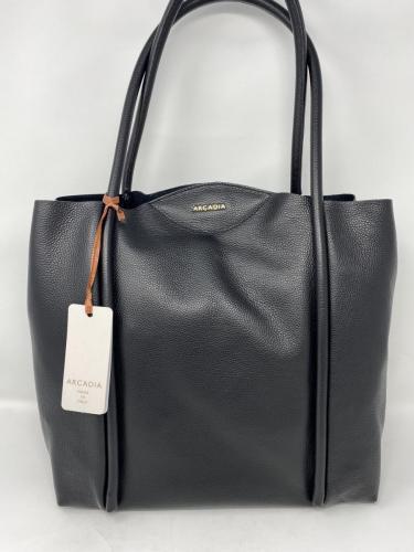 Größere Lederhandtasche schwarz 210.-