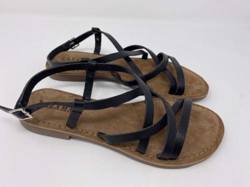 Flache Sandalette schwarz Gr 36 - 41, 49.90 jetzt 39.90