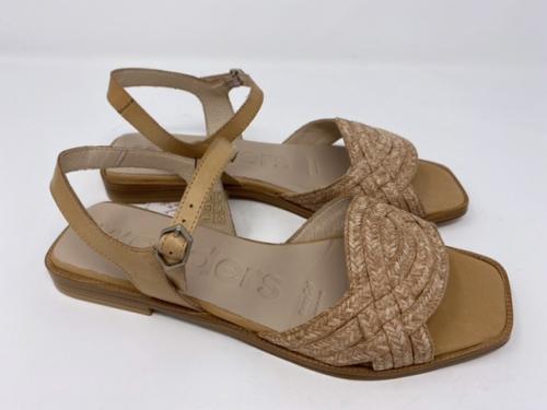 Sandalette aus geflochtenem feinen Bast in beige natur Gr 38 - 41, 125.- jetzt 67.50
