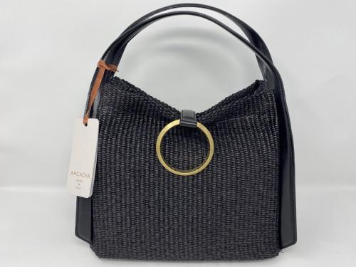 Handtasche Bast Leder schwarz 199.-