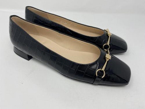 Ballerina Krokolack schwarz Gr. 37,5 - 42, 139.90